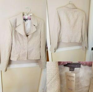 Jackets & Blazers - Ann Taylor textured cream blazer metallic $139 NWT